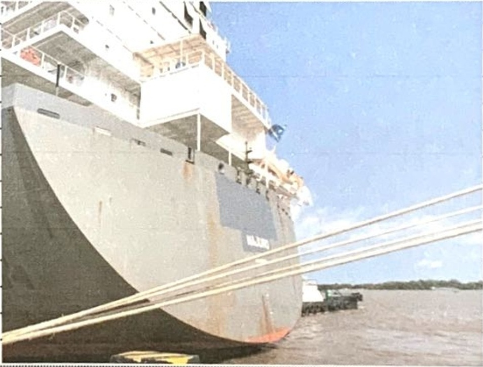 VESSEL NAME REPAINTING/ DRAWING/ CHANGING IN CATLAI TERMINAL - HO CHI MINH PORT, VIETNAM.